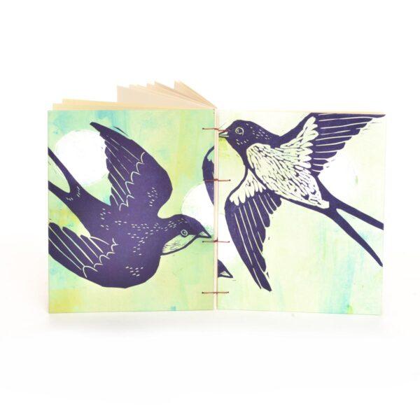 outside view of handmade bird journal
