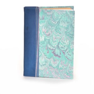 handmade leather marbled paper journal