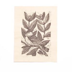 handmade warbler print