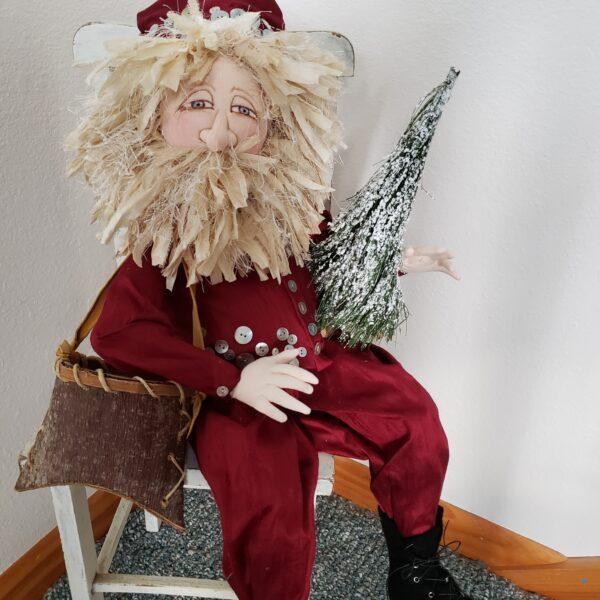 handmade santa doll