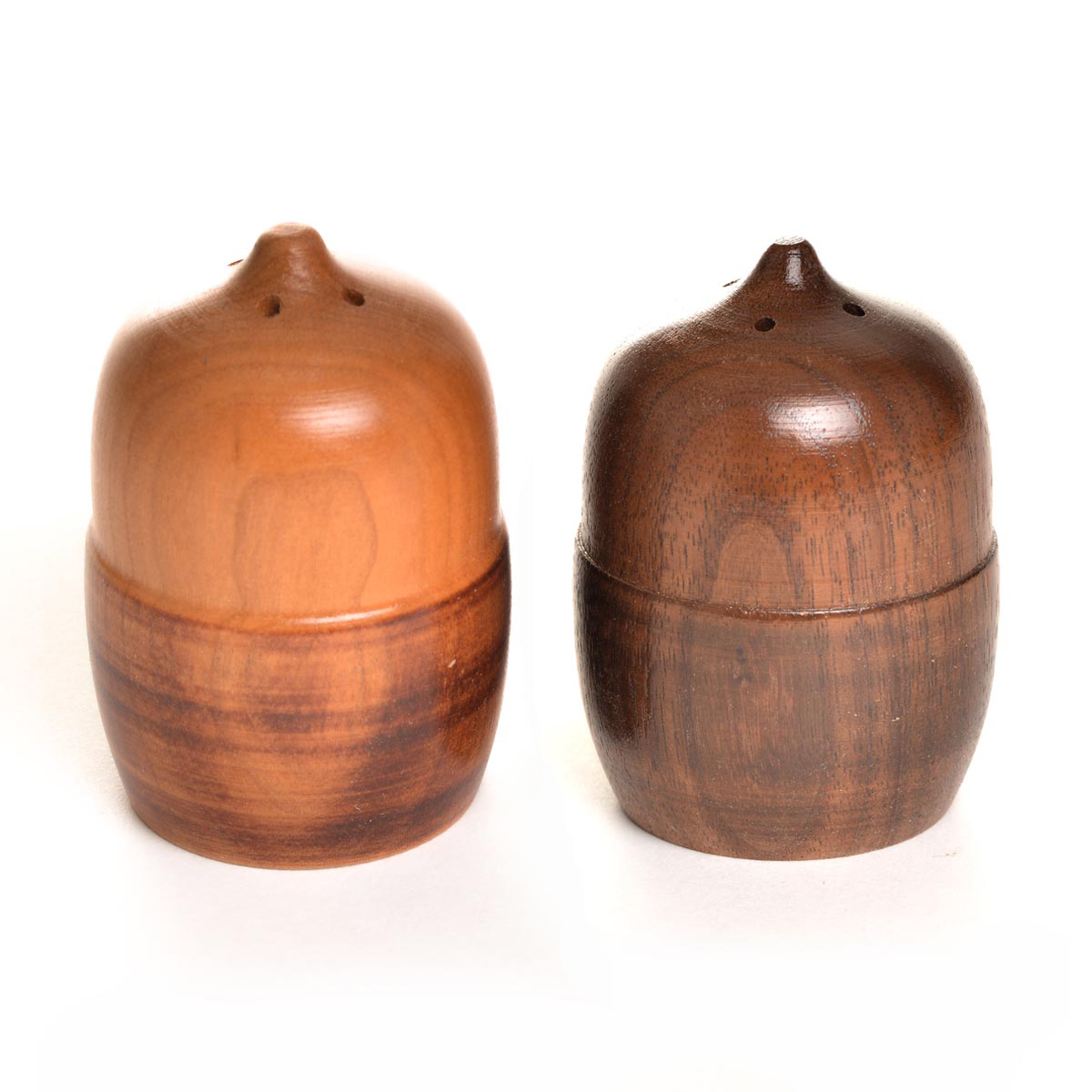 Wooden Acorn Salt And Pepper Shakers Southern Highland Craft Guild