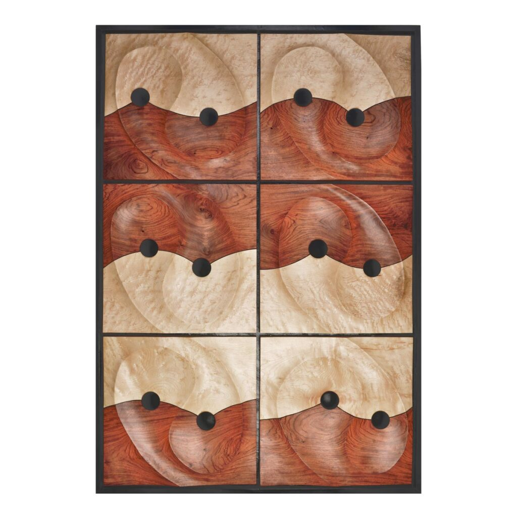 mixed wood wall sculpture