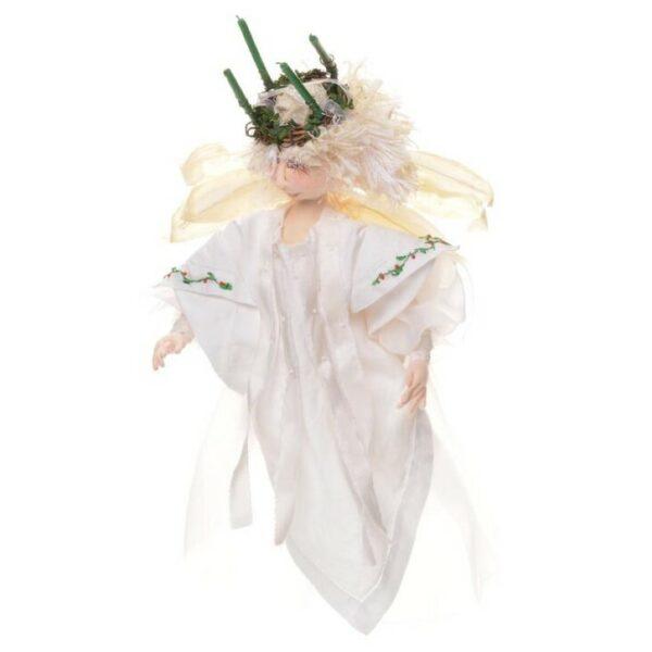 white handmade angel doll, christmas angel doll