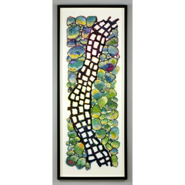 Blue Ridge Parkway fiber framed art,