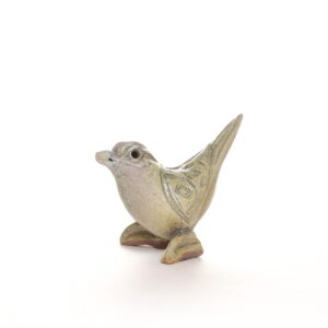 small woodfired ceramic bird sculpture