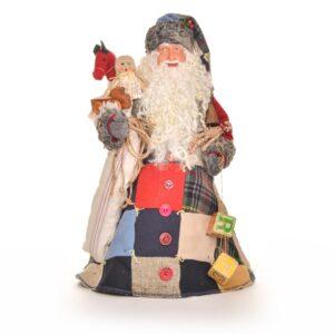 handmade patchwork santa, handmade Santa doll