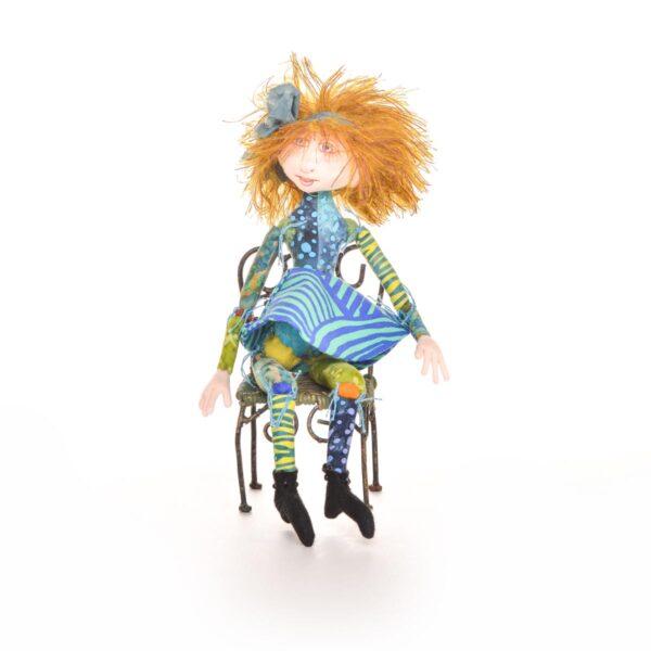 handmade fabric pixie fairy doll