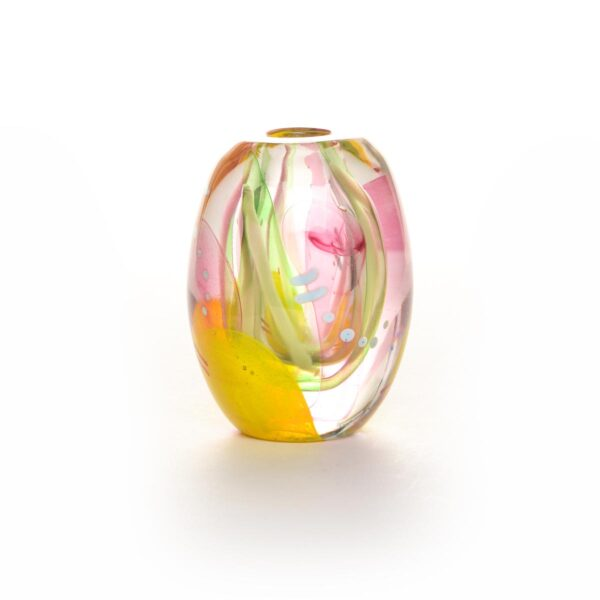 small blown glass bud vase