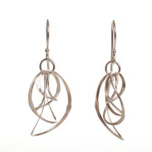 stacked silver hoop earrings