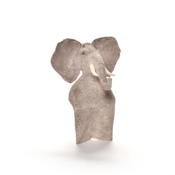 handmade ceramic elephant sculpture