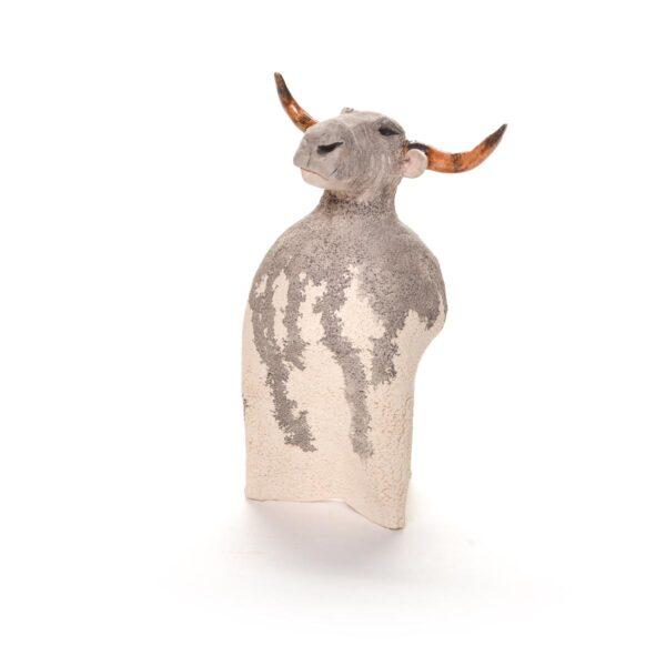 texas longhorn ceramic sculpture