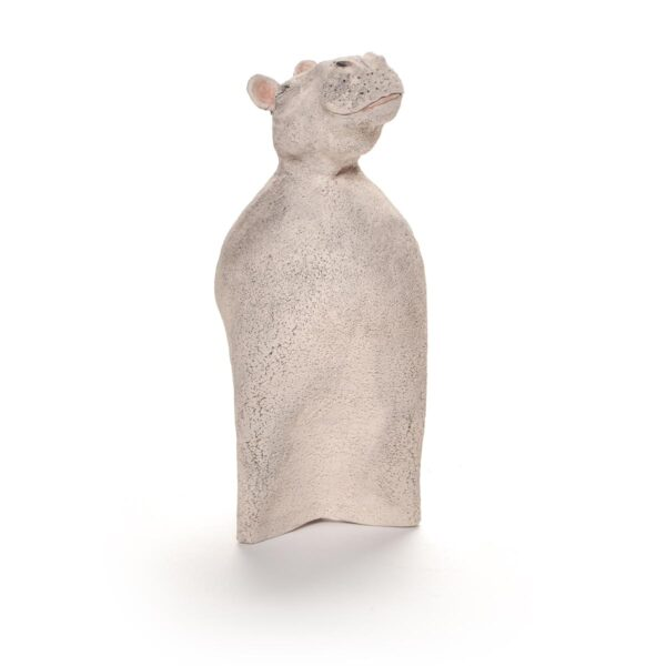 hippo handmade ceramic sculpture