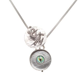 handcrafted eye of the dragon handcrafted necklace