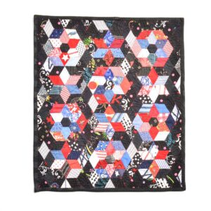 red black and blue flower small quilt