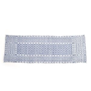 "blue and white handmade lee's surrender table runner, 51"" handmade table runner"