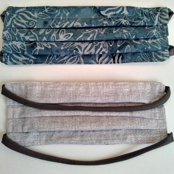 batik blue cotton fabric handmade mask