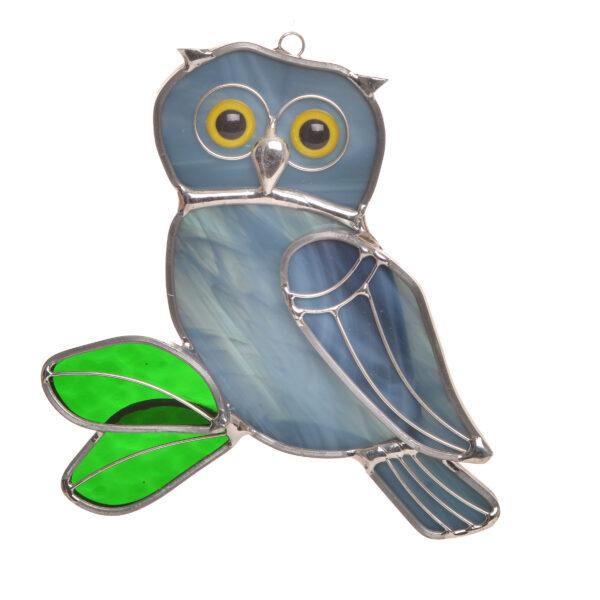 gray owl sun catcher