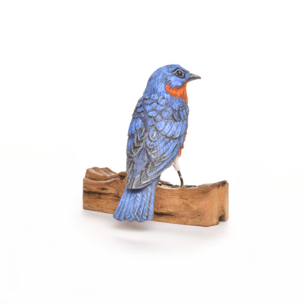 carved and painted bluebird, nc traditional woodcarver