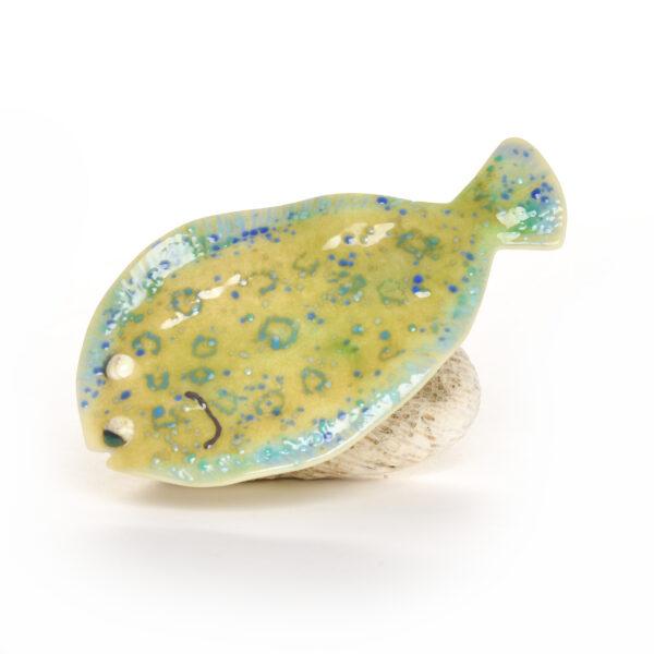 glass flounder sculpture