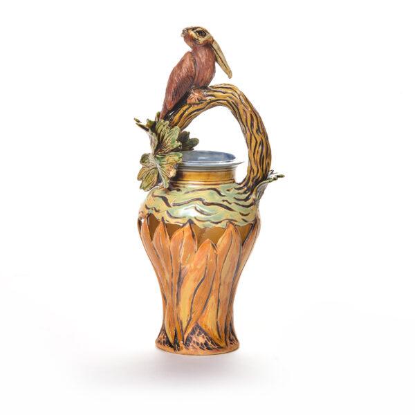 pelican handmade ceramic vase
