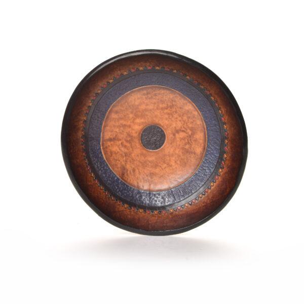 handmade leather dresser bowl