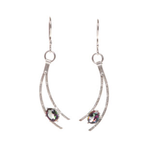 mystic topaz handmade shooting star earrings
