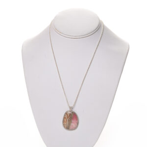 handmade rhodochrosite necklace