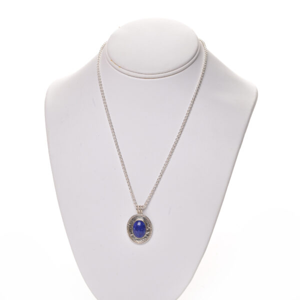 handmade blue lapis sterling silver necklace