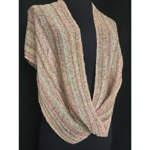 light brown handwoven swoop shawl
