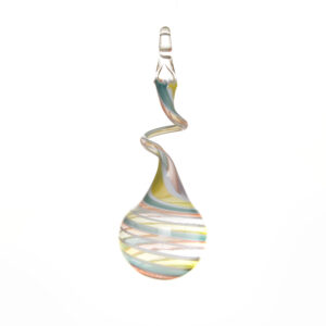pastel soft rainbow swirly ball glass ornament