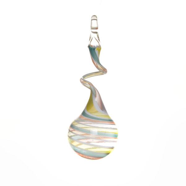 pastel soft rainbow swirly ball glass ornament