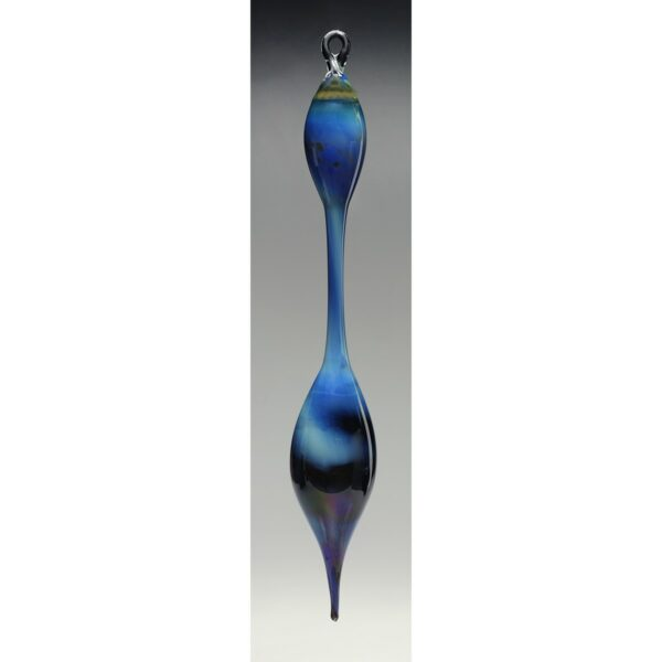 silver blue handmade glass window ornament