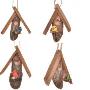 small handmade birdhouse ornaments