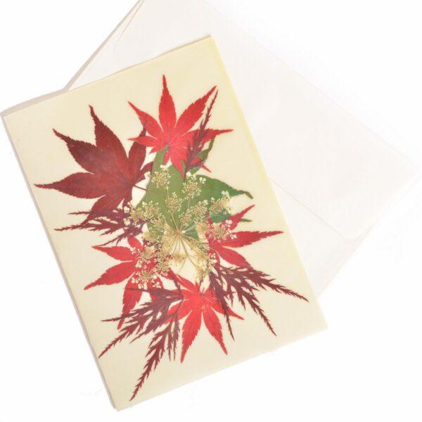 mixed maple handmade beeswax notecard