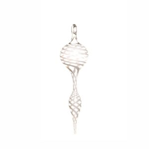 white and clear handmade fancy icicle ornament