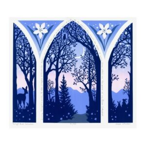 blue and purple blue ridge mountain print, cathedral print