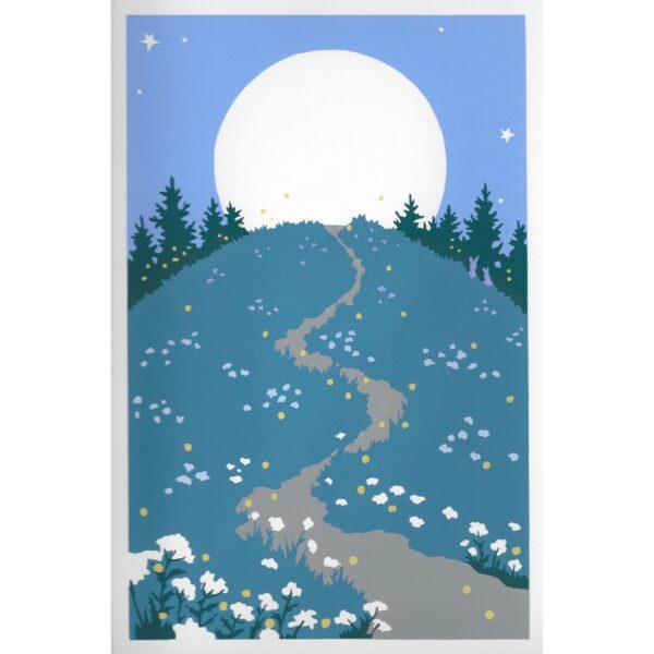 handmade blue ridge hiking print