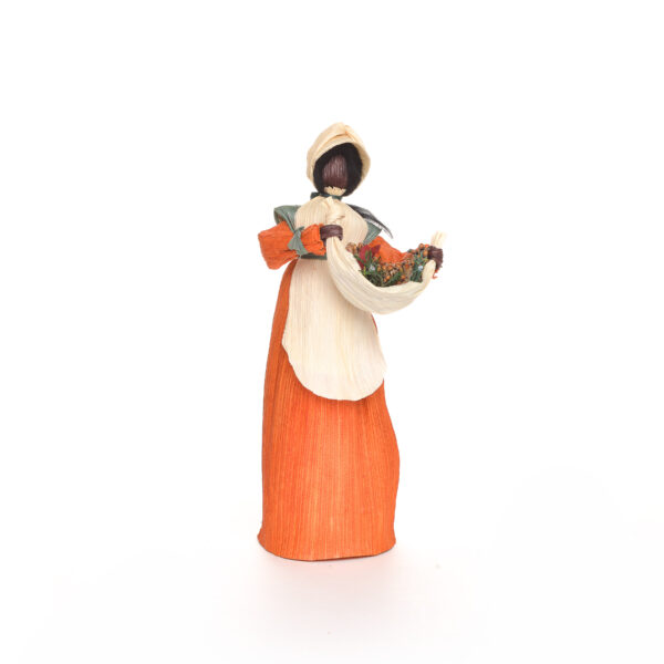 gardening gatherer corn shuck doll, traditional southern crafts