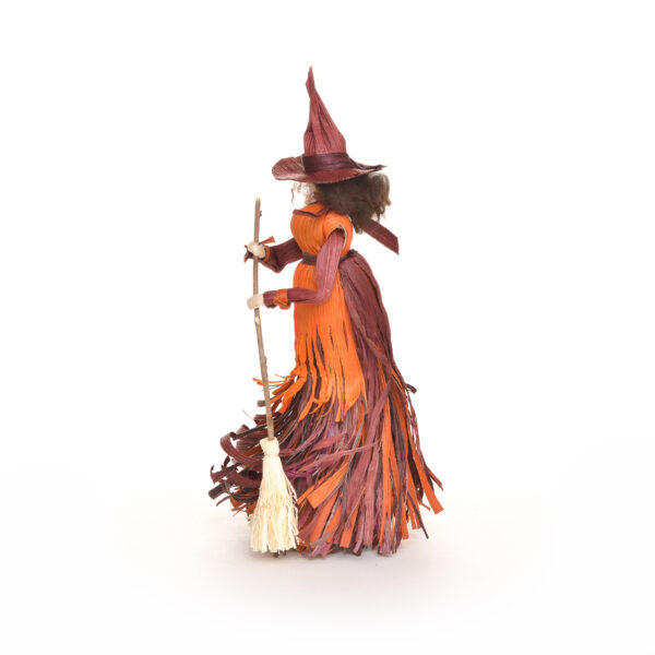 corn shuck witch with broom, traditional mountain crafts, folk art center asheville