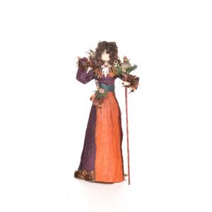 sage corn shuck herbal lady doll, traditional appalachian crafts, folk art center