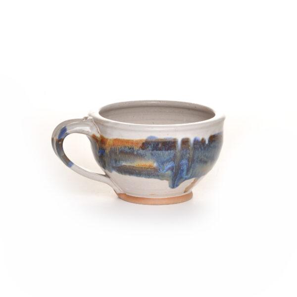 handmade ceramic wheel thrown soup mug,