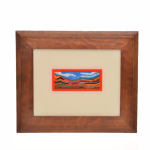 fall mountain landscape made with fused colored glass, north caorlina glass landscape,