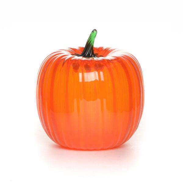 orange handmade blown glass pumpkin