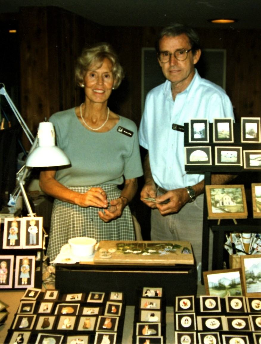 Barbara & Hugh Webb demonstrating at the Folk Art Center
