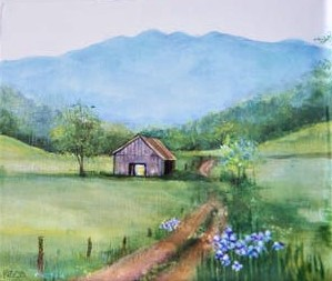 Barn in Spring by Barbara Webb