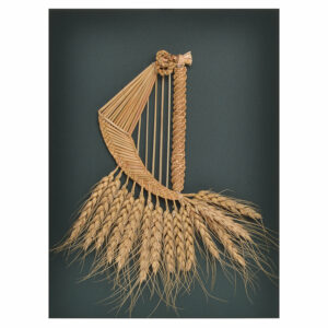 handwoven wheat into a fairy harp, traditional appalachian crafts