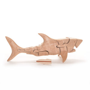 handmade wooden shark puzzle