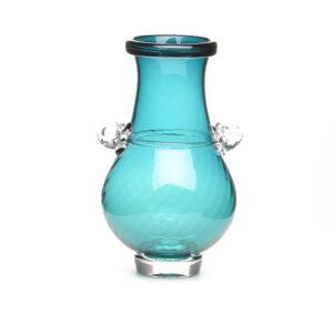 handmade turquoise glass vase