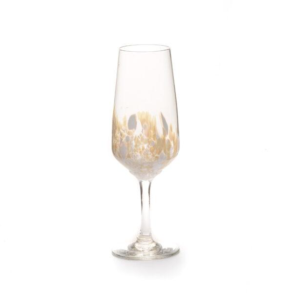 gold handmade champagne flute