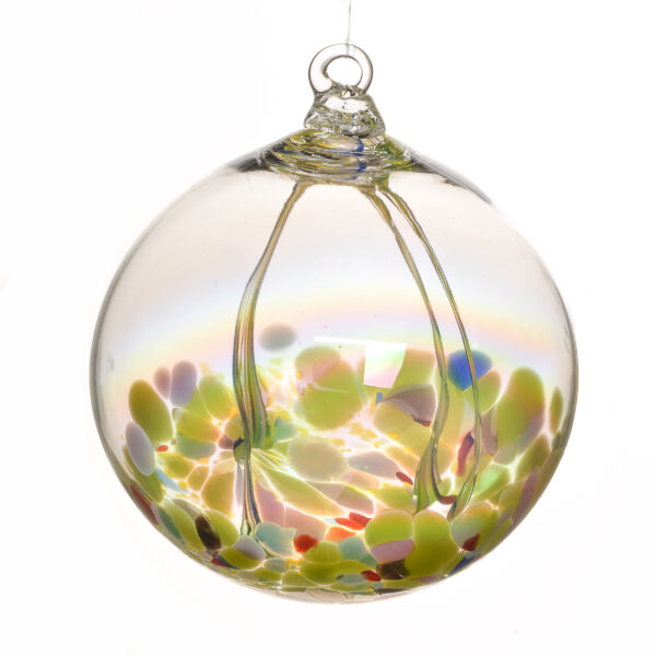 green large witching fairy ball, north carolina glass artist